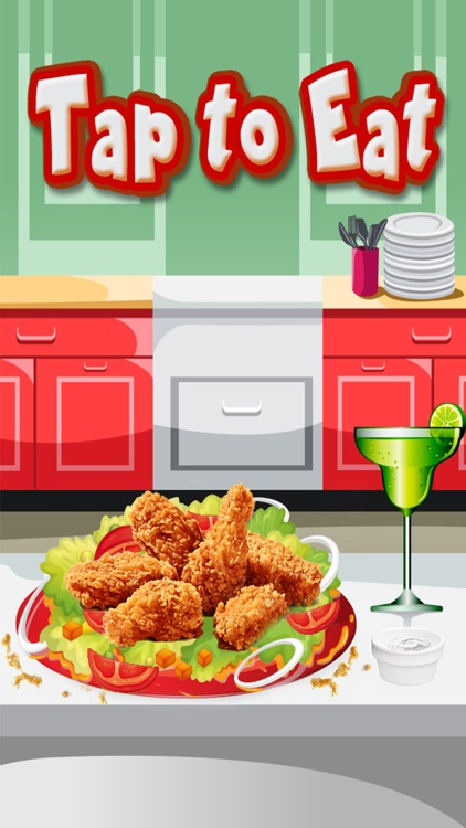 Spicy chicken wings maker – A fried chicken cooking & junk food cafeteria game screenshot-4