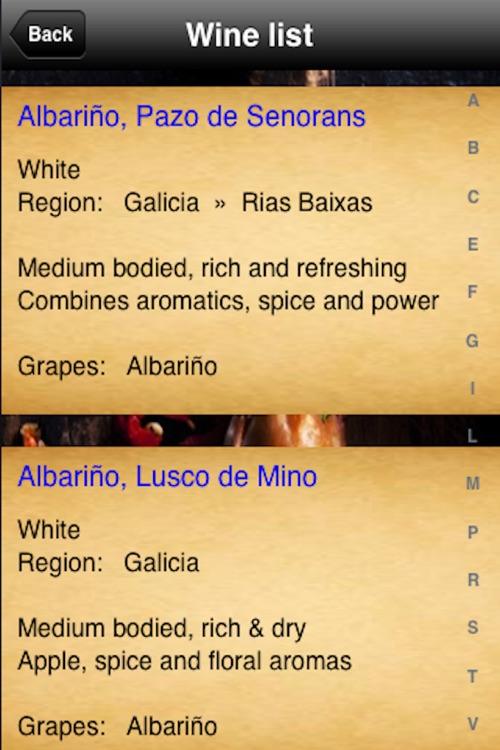 Spanish Menu screenshot-4