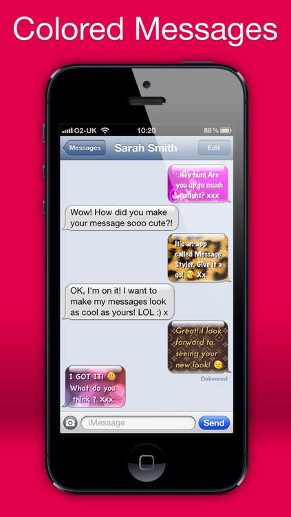 Message Styler - Color messages for iMessage and MMS + Emoji screenshot-0