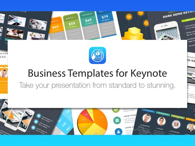 business templates for keynote をapp storeで