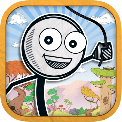 Stick-man Adventures - Swing, Run And Jump For Super Survival 3D FREE