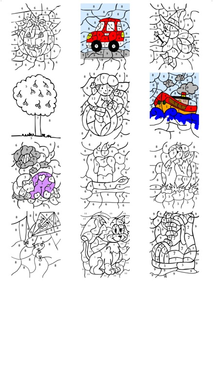 Book of colorings by number - Color with numbered pencils for kids screenshot-4