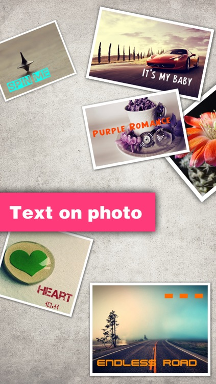 Texts on Photo HD Pro – text over picture & caption designs editor screenshot-1