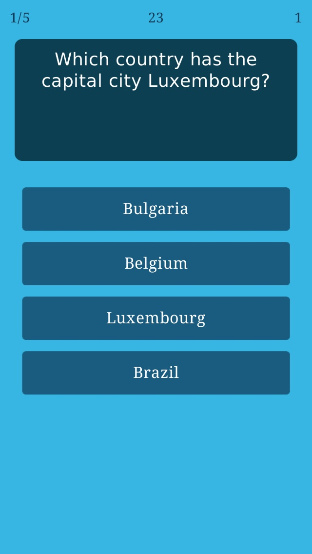 World Capitals Quiz Geography Trivia Game About All Countries - Capital of all countries