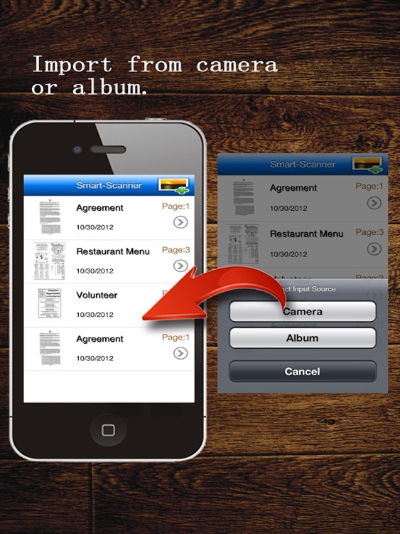 MyScan HD: scan document into PDFs