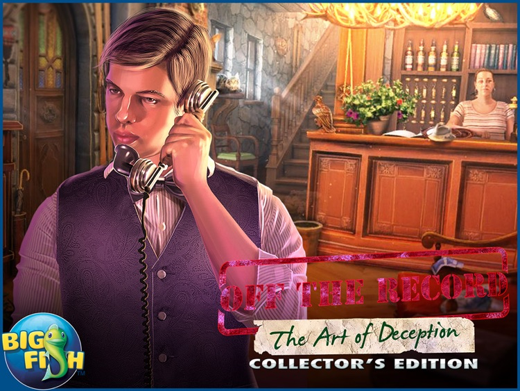 Off The Record: The Art of Deception HD - A Hidden Object Mystery screenshot-4