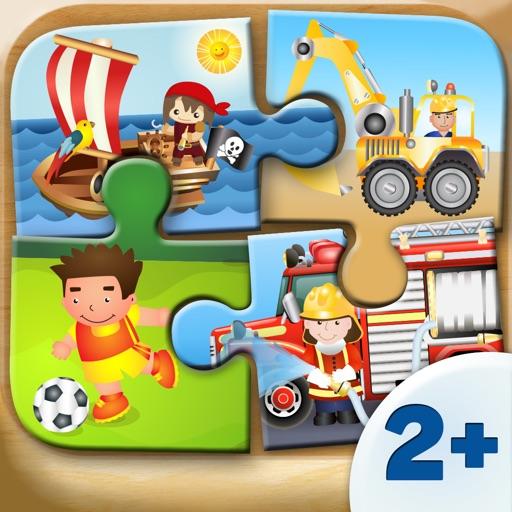 Spiele für Kleinkinder - Holz Puzzle für Jungen (6 Teile) 2+
