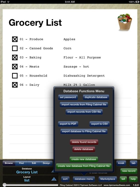 Filing Cabinet - mobile database screenshot-3