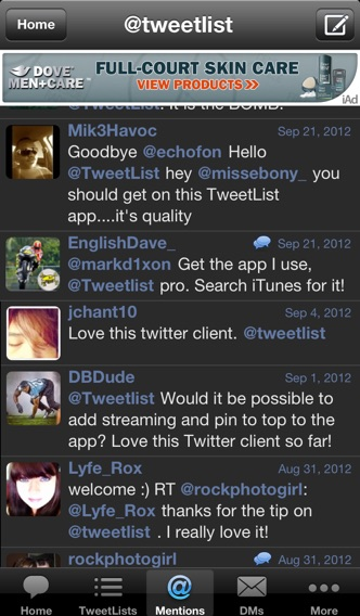 TweetList for Twitter screenshot1