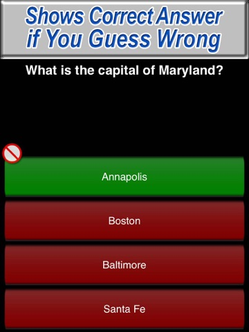 US State Capitals Trivia Quiz Free - The United States Fifty Capital Test Game Screenshot
