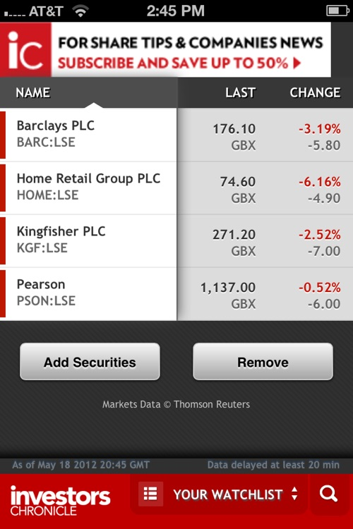 Investors Chronicle iPhone App
