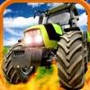 A Farm War Combat Run: Speed Tractor Racing Game