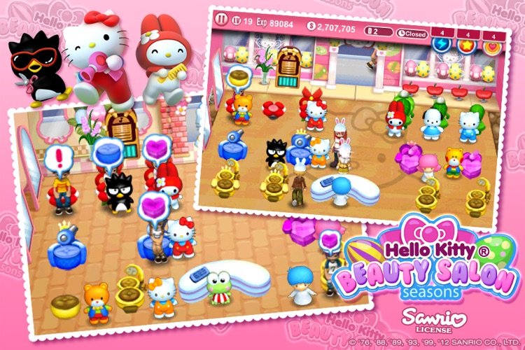 Hello Kitty Beauty Salon Seasons screenshot-2