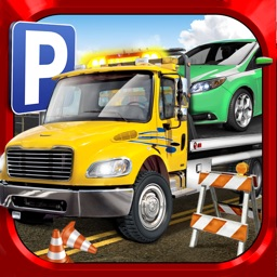 3D Impossible Parking Simulator 2 - Real Police Monster Tow Truck Car Driving School Test Park Sim Racing Games