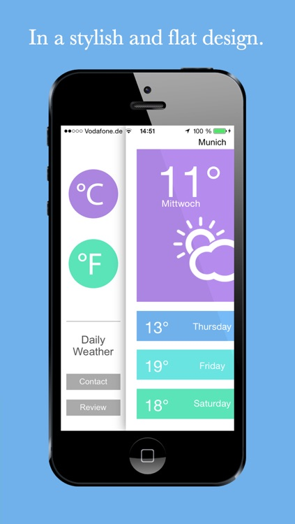 Weather - Your daily weather in a flat design