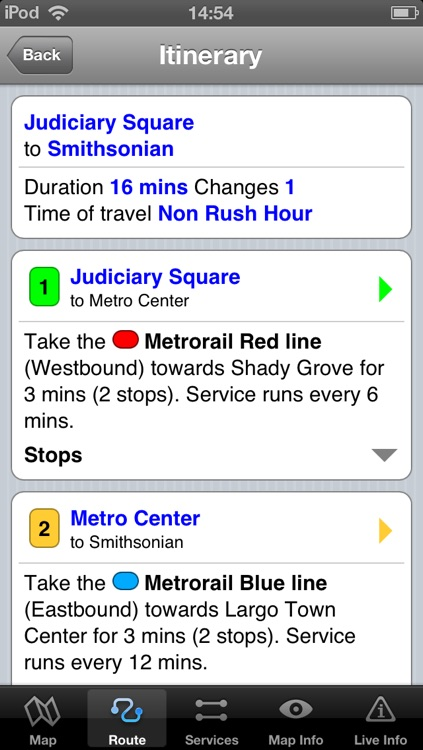 Washington Metro - Map and route planner by Zuti