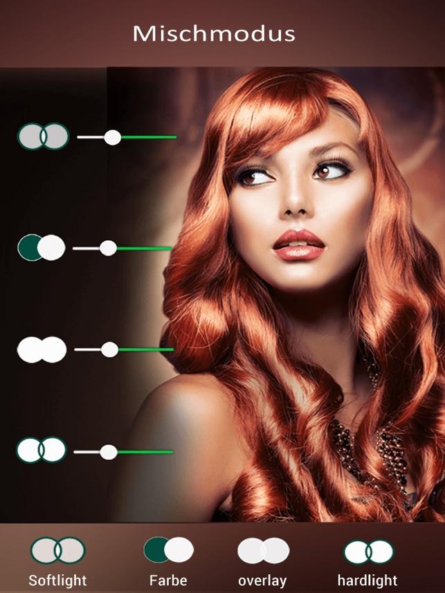 Haarfarbe Changer - Verfassungs-Werkzeug, ändern Haarfarbe im App Store