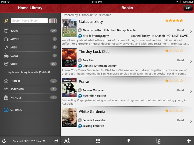 Home Library Lite For iPad