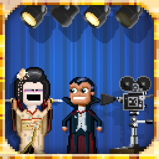 Pixely People Making Movies
