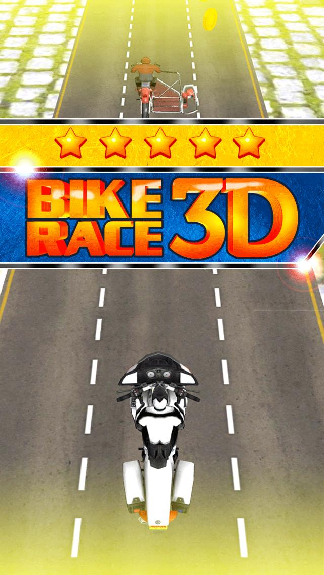 アサルト乗馬ストリートレースゲーム無料ではバトルレーサーの実行3Dダートバイクのおすすめ画像1