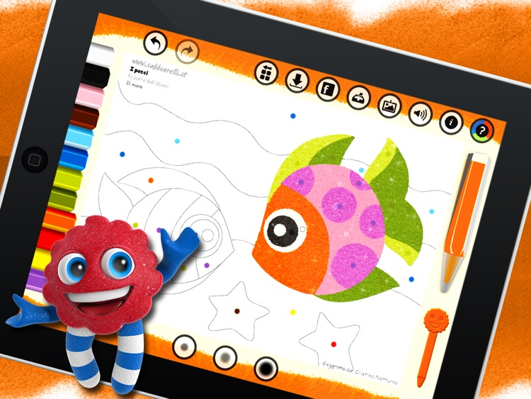 Sabbiarelli HD - Coloring book and pages for kids - easy, fun and creative games for sand art