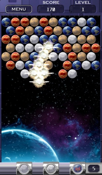 Bubble Shooter Space Edition Скриншоты4