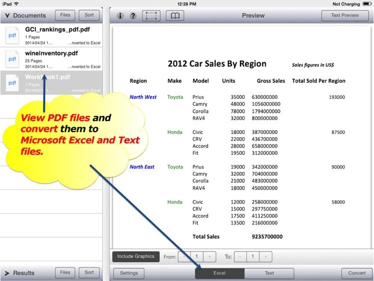 PDF to Excel by PDF2Office - PDF Converter