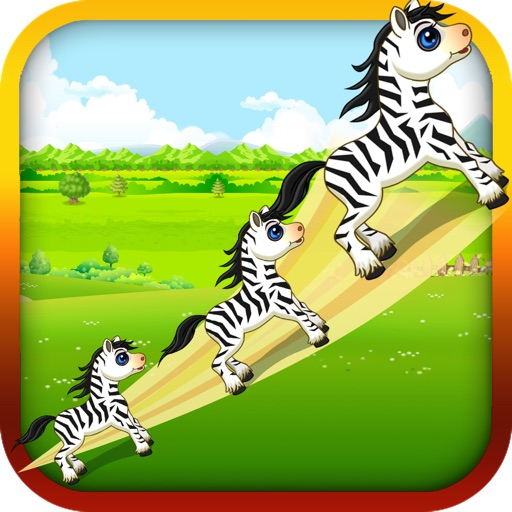 Baby Zebra Zoom - Race the Tiny Zebra in Zoo Forest icon