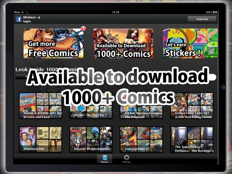 Comics Unlimited : Comic and Cartoon Book Reader screenshot-2