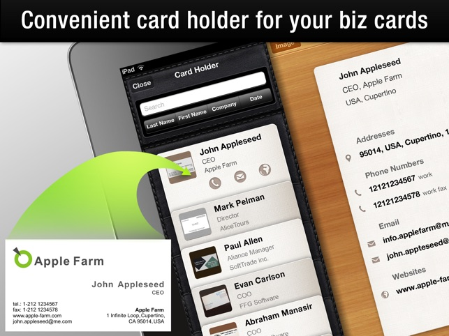 Business card reader hd on the app store business card reader hd on the app store reheart Gallery