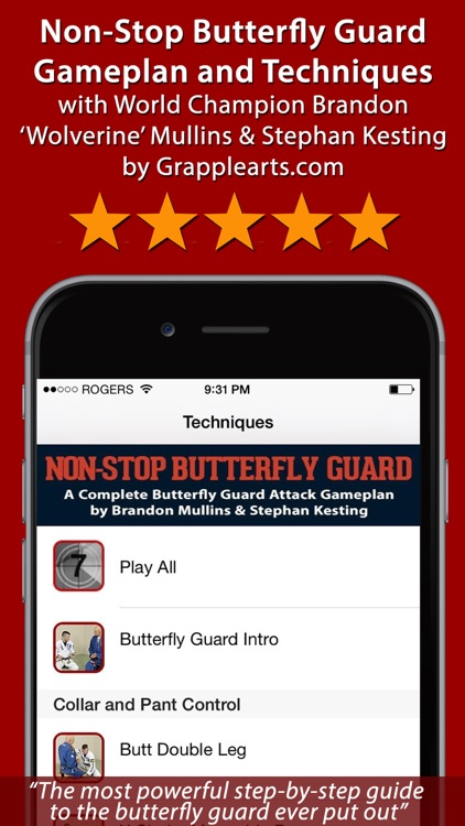 Non-Stop Butterfly Guard: Sweeps & Submissions for BJJ & Nogi Grappling screenshot-0