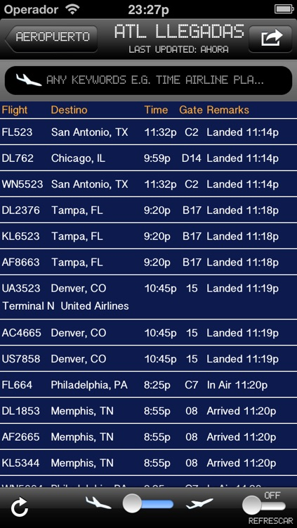 Atlanta, GA Airport - iPlane2 Flight Information