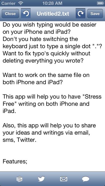 Social writer: Fast keyboard to write plain text drafts