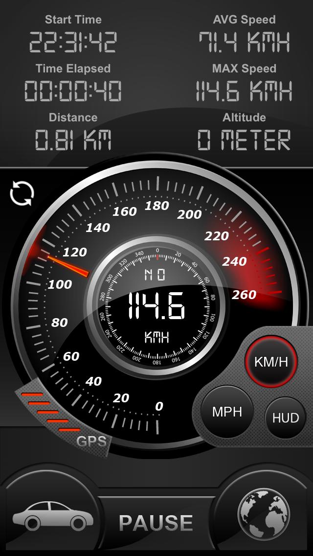 Screenshot for Speedo GPS Speed Tracker, Bil hastighetsmätare, Cykeldator, Färddator, Route Tracking, HUD in Sweden App Store