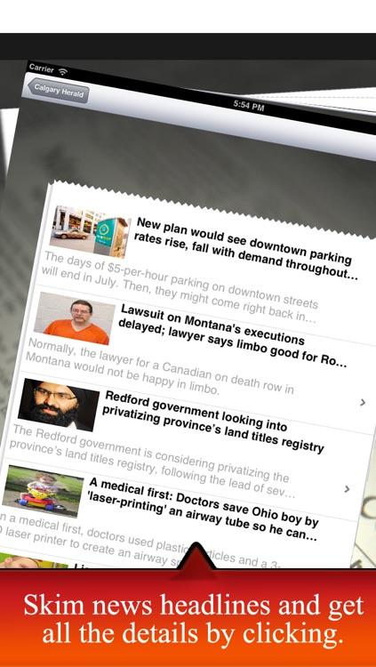 Canada Newspapers: Toronto Star, Globe and the Mail, Vancouver Sun, Toronto Sun, La Presse, Journal Montreal, etc. screenshot-3
