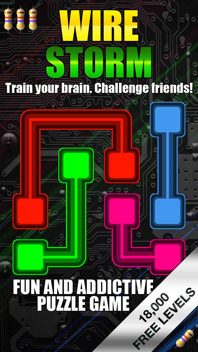 Wire Storm - Fun and Addicting Logic Puzzle Game Screenshot on iOS