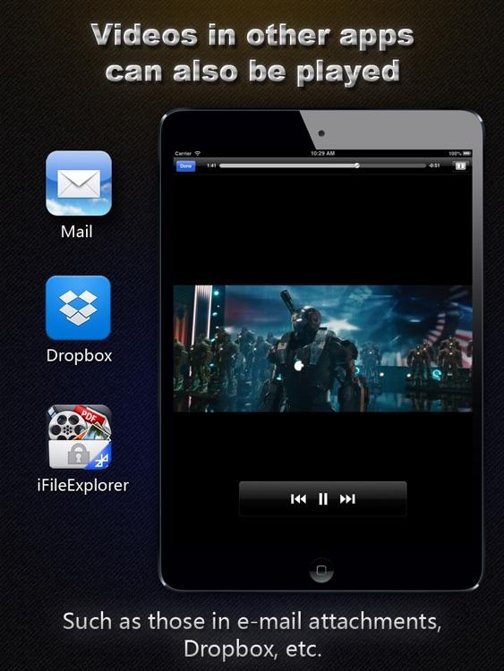 AVI, FLV, WMA, RMVB, MPEG, MP4 Player HD screenshot-4