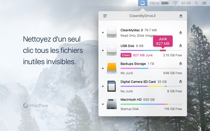 Screenshot #2 pour CleanMyDrive 2