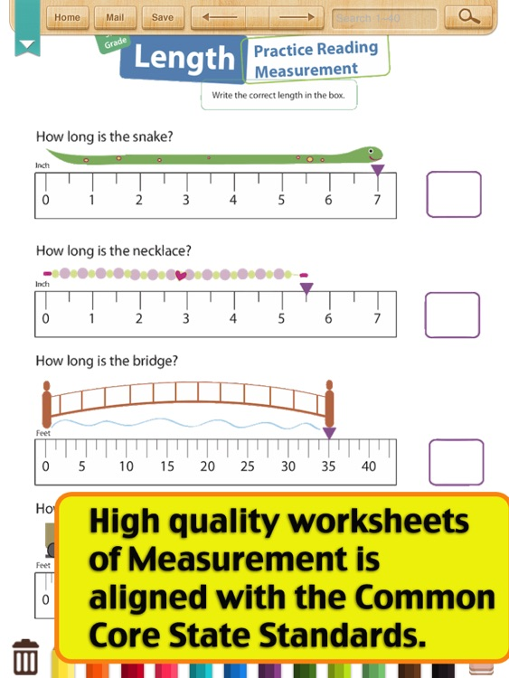 Kids Math-Measurement Worksheets(Grade 3)