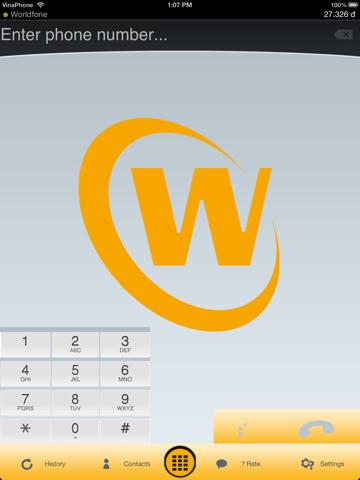 Скриншот из World fone sip dialer