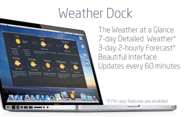 Weather Dock: Desktop forecast on the Mac App Store