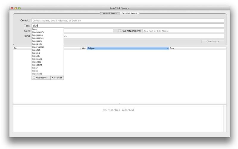 InfoClick Screenshot