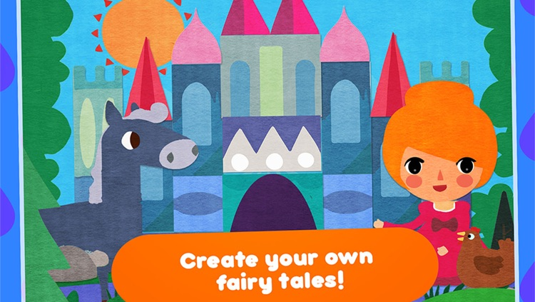 CreaShape Fairy Tales - children storytelling app - create your own princess classic  stories like Cinderella rapunzel snow white little mermaid