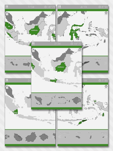 Enjoy Learning Indonesia Map Puzzle iPad