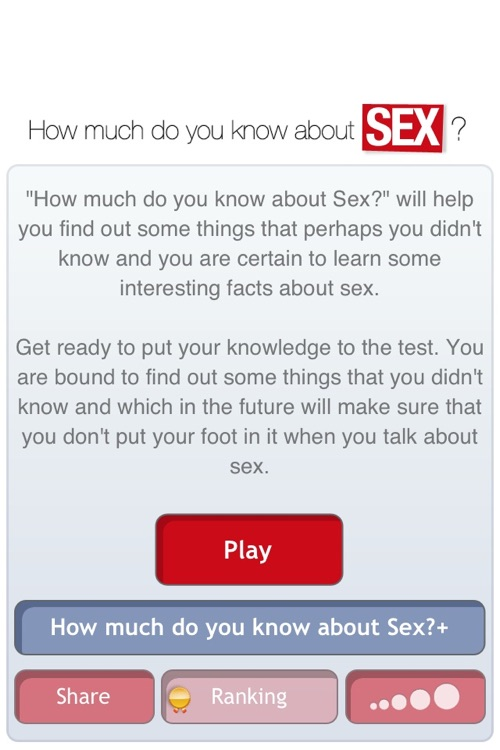 How much do you know about Sex? Find it out with your partner or friends! screenshot-1