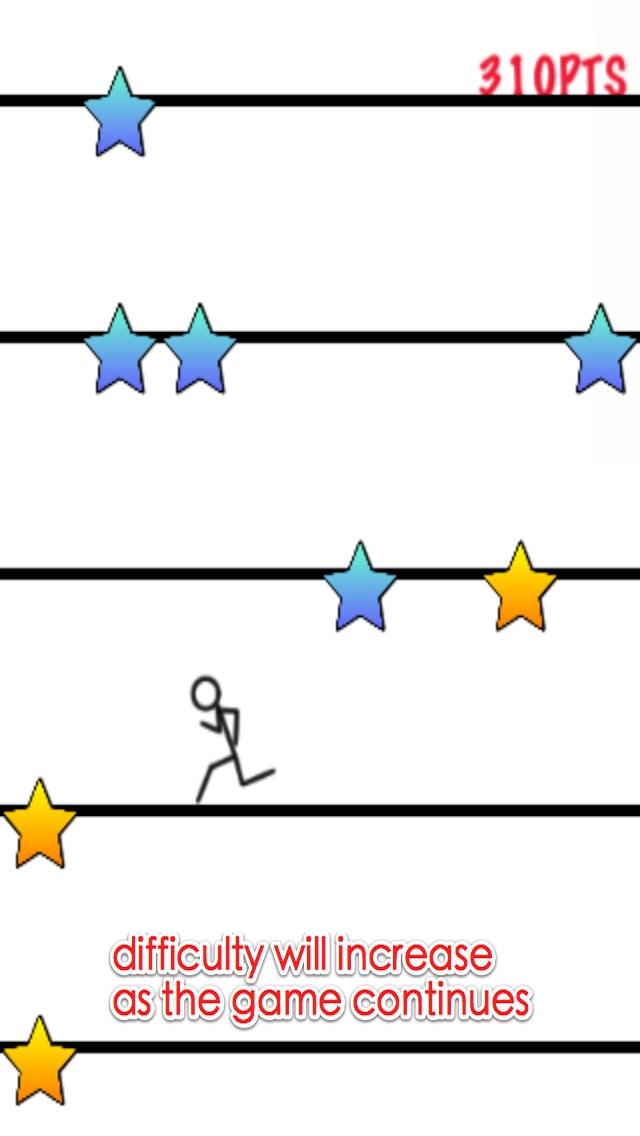 mutig stickman - springen und in regen laufen kostenlosScreenshot von 3
