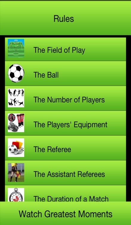 Football - Soccer Rules