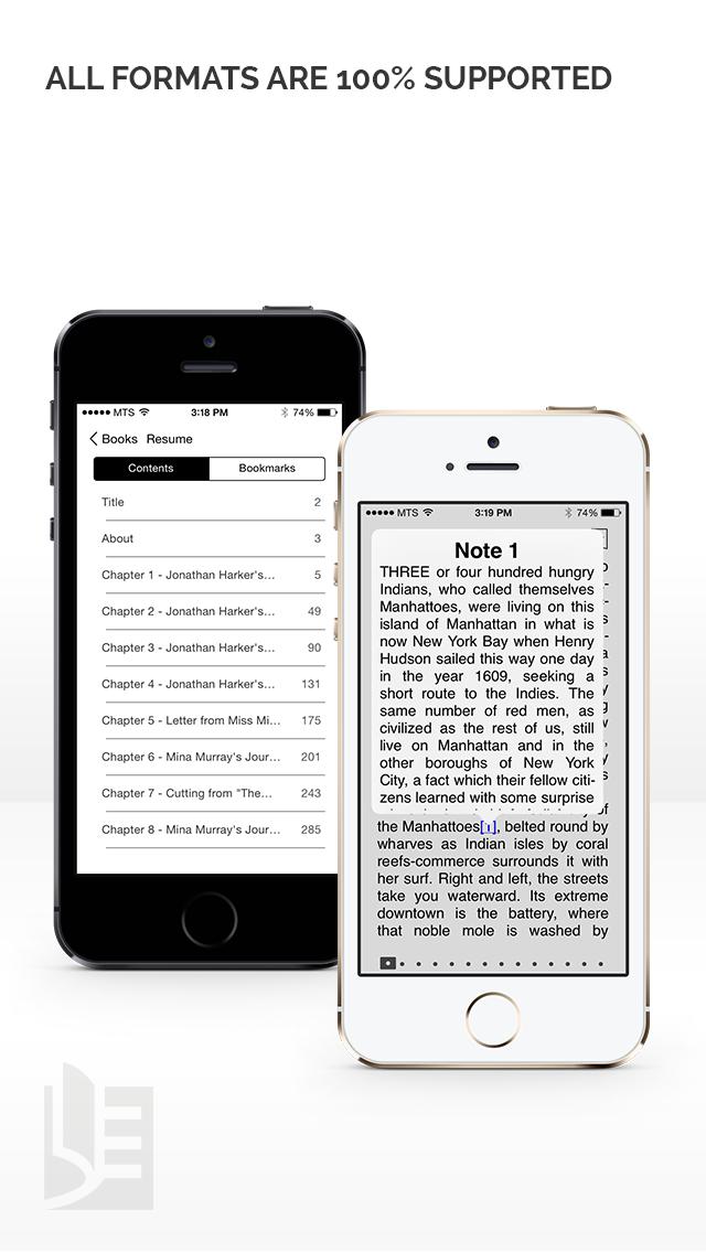 Screenshot #3 pour TotalReader for iPhone - The BEST eBook reader for epub, fb2, pdf, djvu, mobi, rtf, txt, chm, cbz, cbr