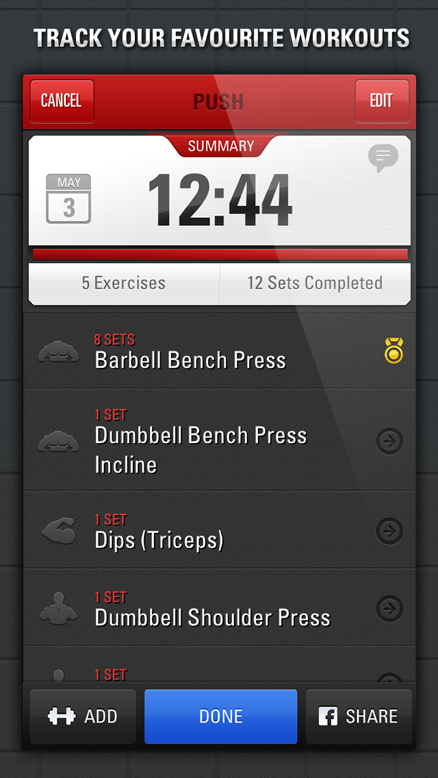 Gym Genius - Workout Tracker:  Log Your Fitness, Exercise & Bodybuilding Routinesのおすすめ画像4