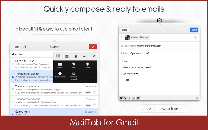 MailTab for Gmail Screenshot